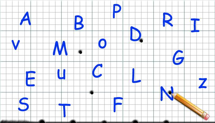 Foglio bucato lettere